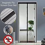 Anti Mosquito Magnetic Screen Door Mesh Durevole Stabile Design Cortina di porta Bambino e Pet Friendly Design Colore Nero