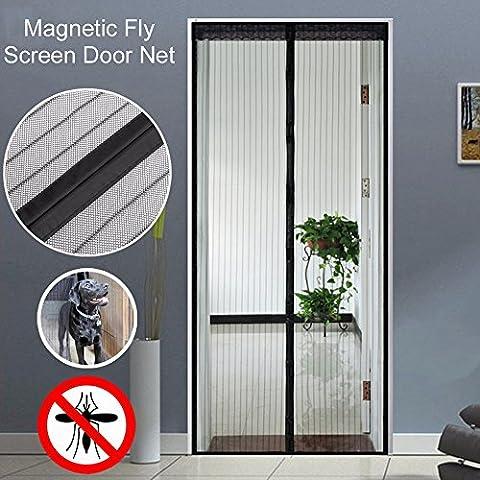 Anti Mosquito Magnetic Screen Porte Grille Durable Design Stable Rideau de porte Baby and Pet Friendly Design Black Color