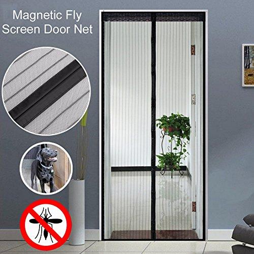 Magnet Fliegengitter Tür Insektenschutz Der Magnetvorhang ist Ideal für die Balkontür, Kellertür, Terrassentür 90x210 cm