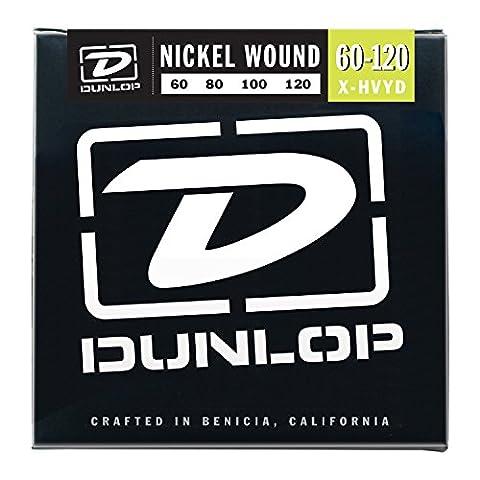 Dunlop Dbn40100Cordes de basse en nickel, léger, .040–.100, 4cordes/Lot 4 cordes Extra Heavy Drop