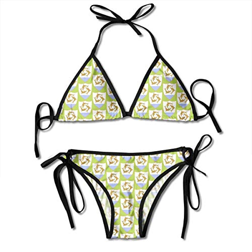 Duang Three Dolphin Sexy Bikini Set Swimsuits Bathing Suits