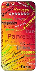Parveen (star) Name & Sign Printed All over customize & Personalized!! Protective back cover for your Smart Phone : Samsung Galaxy E-7