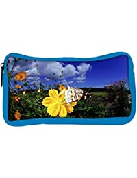 Snoogg Eco Friendly Canvas Cool Butterfly Designer Student Pen Pencil Case Coin Purse Pouch Cosmetic Makeup Bag