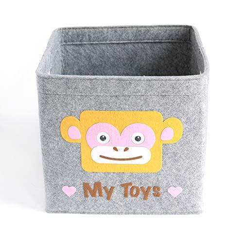 Aufbewahrungskorb Kinder Zimmer/Spielzeug Korb LuckySign-Care (Affe)