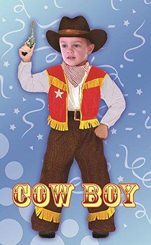Fiori Paolo Baby Cowboy Costume Bambino, Multicolore, S (3-4 Anni), 61344.3-4