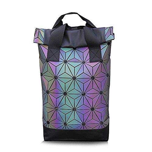 7ca40750c5a9 Mayanyan Female rhombus Geometry double-shouldered backpack double-lift  diamond bag