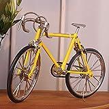 shunlidas Home Deko Dekoration Schlafzimmer Figurinehandgemachtes Fahrrad Lebensechtes Altes Fahrrad Fährt Die Kreativen Geschenke Gelb Fort