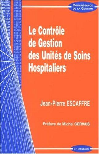 Le contrle de gestion des units de soins hospitaliers