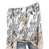 YWLINK Damen Trägerlos Bluse mit Bandage Leopard Druck Plus Size Farbverlauf Schulterfreies Tops