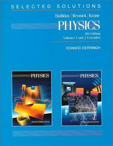 Physics, , Solutions Manual by David Halliday (1992-08-30)