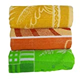 #2: RBK Multicolor Cotton Printed Bath Towels (Pack of 3)