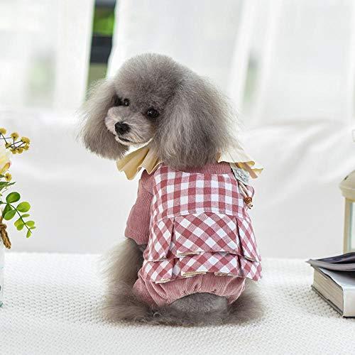 WUXXX Fashion-Partykleid für Hunde, Pinke kreative Elegante Hundekleidung, warme und kältefeste - Kreative Elegante Kostüm