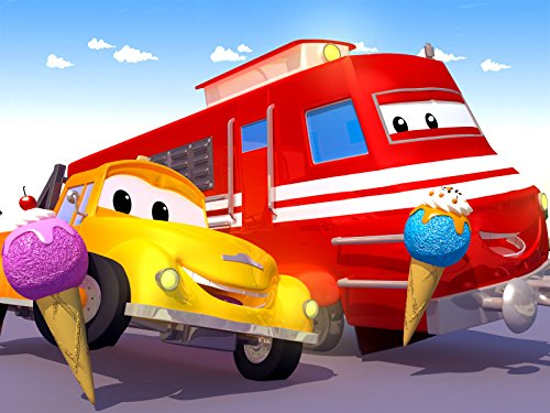 Troy der Zug ist entgleist / Carlo der Pizzabäcker / Amber der Krankenwagen / Carrie das Süßigkeitenauto