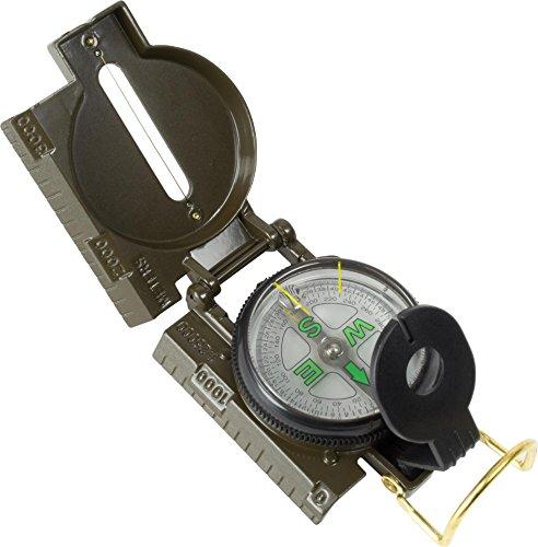 Kompass mit Peileinrichtung und Visiereinrichtung im Deckel, flüssigkeitsgedämpft Farbe Marschkompass (Visiereinrichtung)