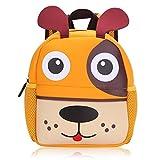 Vox Tier Kinderrucksack Kindergarten Rucksack für Kleinkinder Mädchen Jungen Babyrucksack Wasserdicht (Hund)