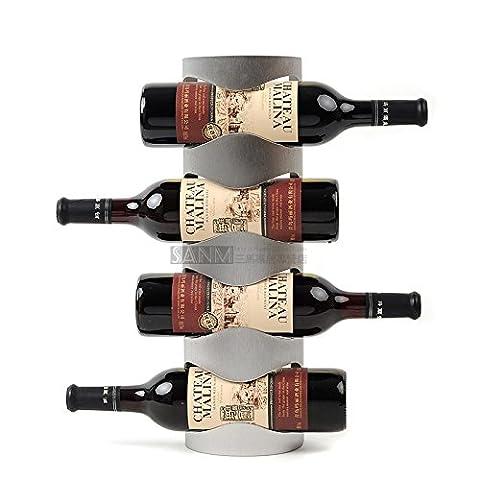 Grilles de porte-bouteilles de vin en acier inoxydable porte-bouteilles mural