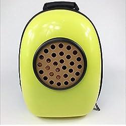 Alger gato de paquetes pecho espacio bolsa cápsula gato bolsa mochila portátil, yellow