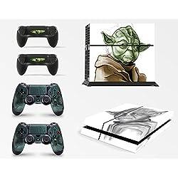Gizmoz n Gadgetz Skin Adhesivo de Vinilo de Yoda de Starwars de GNG para la Consola PS4 + Set de 2 Skins para los Controladores