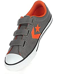 Converse Star Player Ev3 363950-31-12 - Zapatillas de tela para unisex-niño, color gris, talla 27