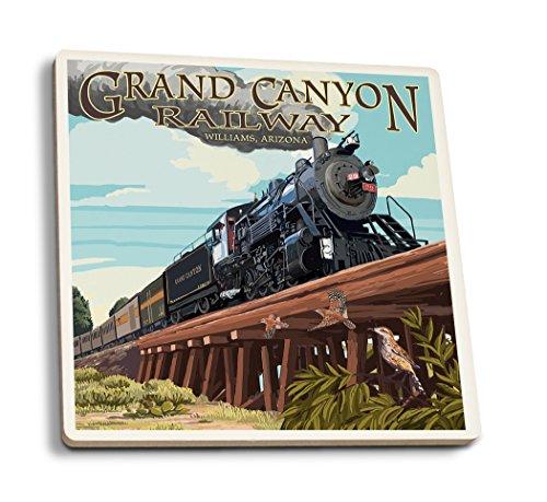Grand Canyon, Arizona Eisenbahn, Holzbock, keramik, mehrfarbig, 4 Coaster Set - Canyon Keramik
