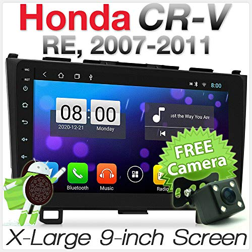 9' Zoll Android 8.1 Oreo Auto MP3-Player FHD für Aftermarket Honda CR-V CRV Baujahr 2007-2011 RE1 RE2 RE3 RE4 RE5 RE7 Chassis 3. Generation GPS Sat Navi Stereo Radio MirrorLink 2007 Aftermarket-stereo