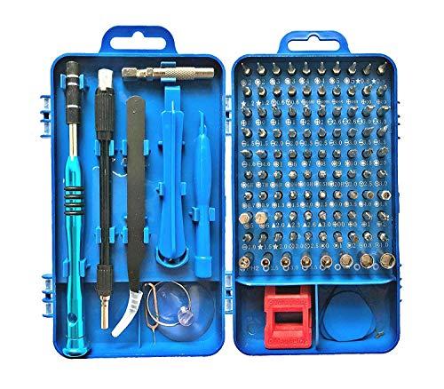 Feinmechanik Schraubendreher Set Tragbar 110 in 1Mini Magnetisch Schraubenzieher Feinmechaniker Set Reparatur Tool Kit Werkzeugset für iPhone,Laptop,Tablet,Uhren,Kamera,Elektronik Set Repair Tool