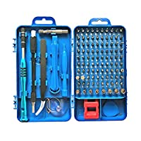 LKNY Precision Screwdriver Set, Apsung 110 in 1 Professional Screwdriver set, Multi-function Magnetic Repair Computer Tool Kit Compatible with iPhone/Ipad/Android/Laptop/PC etc (Blue)