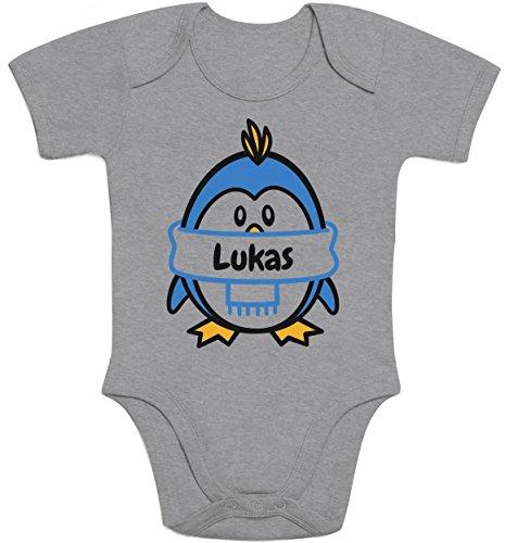 für den kleinen Lukas Baby Body Kurzarm-Body 40/56 (0-3M) Grau (Cool Onesies Für Jungs)