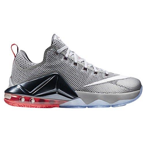 Nike Lebron XII - Zapatillas Baloncesto Hombre, Grey/Lava/White