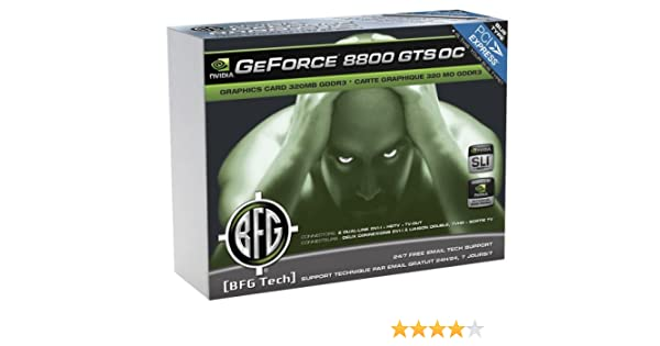 BFG Tech GeForce 8800 GTS OC 320MBPCI Express Graphics Card Intl Amazoncouk Computers Accessories