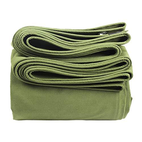 Bâche résistante de 0.85mm, Couverture de remorque de Tente de Sol Anti-déchirure imperméable, Tissu Vert d'auvent 600G / M² (Taille : 3M×3M)