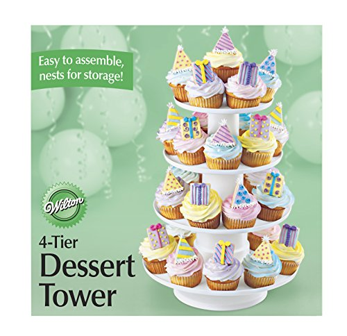 Wilton Cupcake and Dessert Stand/Tower, 4-Tier, Stacked, 41.3 cm (16.25 in.) high