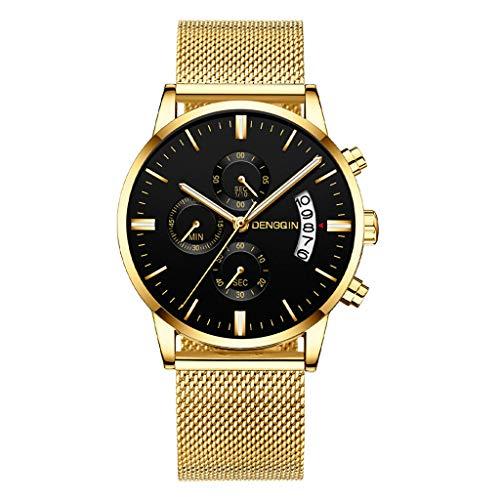 Armbanduhren männer Herrenuhr Herren Luxusuhren Quarzuhr Edelstahl Zifferblatt Casual Bracele UhrArmbanduhr Uhren armbanduh F