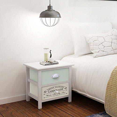 luckyfu Modernes Design Möbel Tische Nachttische mit Material: Paulownia-Holz + Sperrholz Lang Schreibtisch Oder Tisch Shabby Chic Nachttisch Holz (Sperrholz Couchtisch)