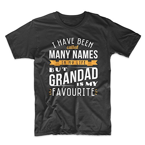I Have Been Called Many Names But Grandad Is My Favourite Grandfather Herren T-Shirt Schwarz