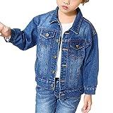 Chaquetas Para Niña Chaqueta De Mezclilla Retro Chaqueta Vaquera Jean Jacket Azul 100CM