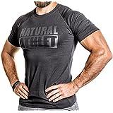NATURAL ATHLET® T-Shirt Flavio Simonetti Slim Fit Herren Schwarz