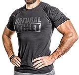 NATURAL ATHLET® T-Shirt Flavio Simonetti Slim Fit Herren 95 % Baumwolle 5 % Elasthan Schwarz sw/sw, Größe: L