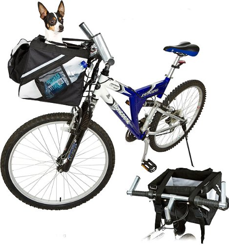 Valentina Valentti - Trasportino frontale per bicicletta, per animali domestici