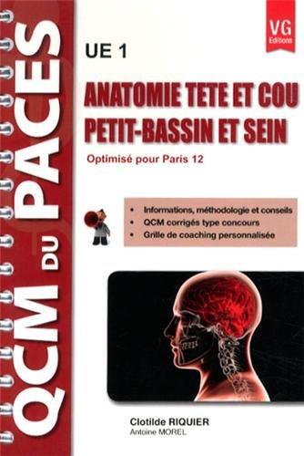 Anatomie tête et cou, petit-bassin et sein UE 1 : Optimisé pour Paris 12