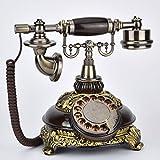 Xia Xia Teléfono Fijo Europeo Retro Teléfono rotativo Teléfono Antiguo Europeo Clásico Creativo...