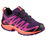 Salomon Kids XA Pro 3D Trail Running/Outdoor Shoes, Purple, Synthetic/Textile