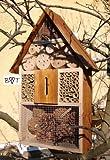 Insektenhaus dunkelbraun Teak Look mit Schmetterlingshaus braun Insektenhotel