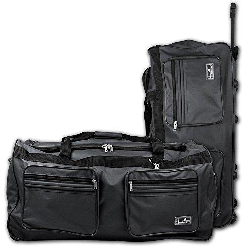 XXL Reisetasche - Trolley - Koffer - Tasche - Trolleytasche Miami mit Farbauswahl (grau)