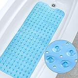 Amorar Extralange PVC Rutschfeste Badematte für Badewanne und Dusche, Badematte mit Saugnäpfen Badewanne Dusche Kinder 100*40cm