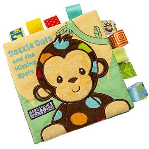 Malloom Perro animal mono conejo Puzzle libro bebé juguete tela desarrollo libros de tela (Mono)