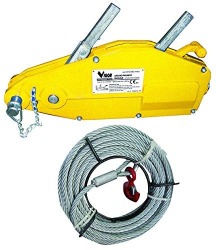 Vigor 4972016 Argani-Paranchi Manuali con Fune, 20 mt, 1600 kg