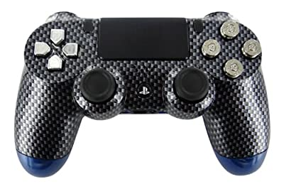 Black Carbon Fiber & Blue Candy-Paint