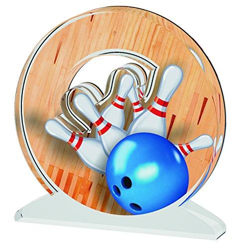 ACRYLATE TROPHÄE Bowling B Acrylic Trophy, beige, S