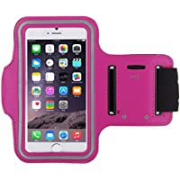 King of Flash iPhone 7 Armband Premium Quality Sports Armband for Jogging, Running, Gym with Key Pocket